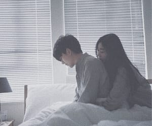 bed, couple, and korean image