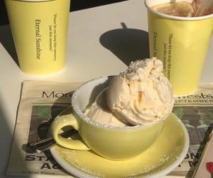 food, yellow, and ice cream image