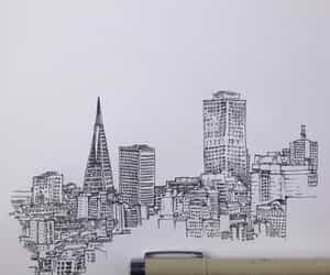 buildings, drawing, and Paper image