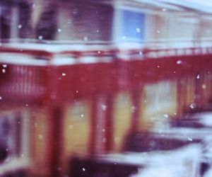 blurry, house, and snow image