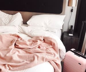 bed, pink, and tumblr image