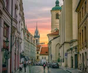 city, prague, and street image