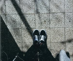 vans, black, and white image