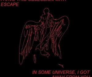 angel, red, and escape image