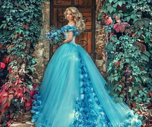 blue, princess, and cinderella image