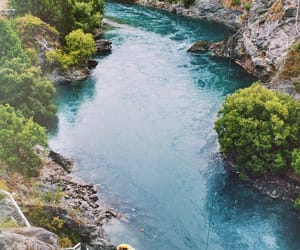 backpacking, beautiful, and blue water image
