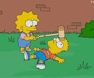 gif, simpsons, and bart simpson image