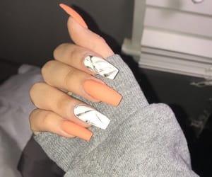 nails, marble, and orange image