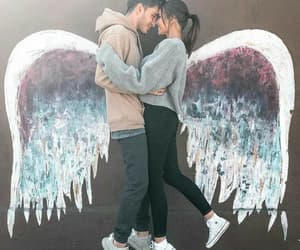 angels, couple, and forever image