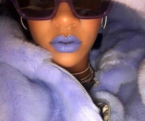 rihanna, purple, and blue image
