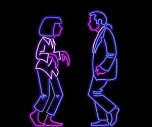 gif, pulp fiction, and neon image