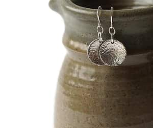 sterling silver, hammered silver, and etsy image