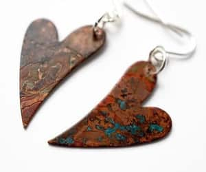 heart jewelry, made in canada, and gift for her image