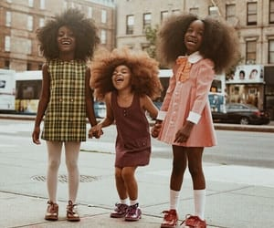 Afro, fashion, and girls image