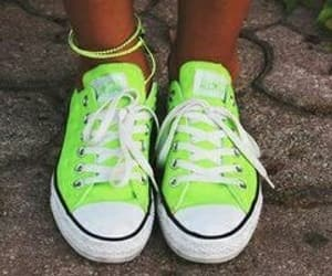 converse, neon, and shoes image
