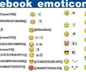 facebook and emoticons image