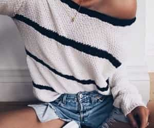 chic, sweater, and fashion image
