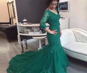 evening dress, mermaid dress, and formal occasion dress image