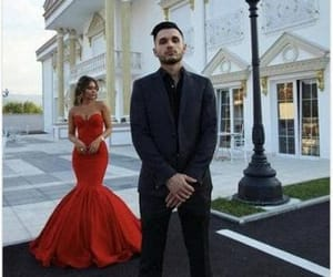 fashion, prom dress, and red dress image