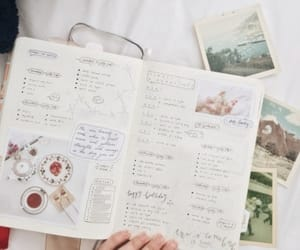 diary, girl, and journal image