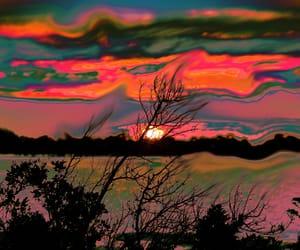 sunset, art, and landscape image