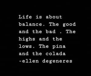 balance, black and white, and ellen image