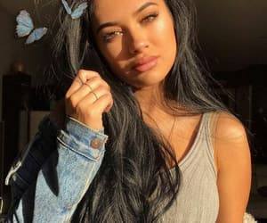 beautiful, make up, and face image