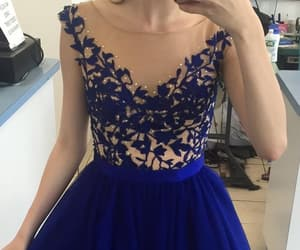 dress, royal blue gowns, and royal blue image