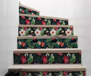 flowers and stairs image