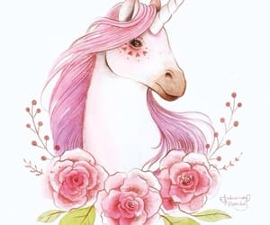 pink, unicorn, and cute image