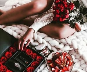 flowers, roses, and nutella image