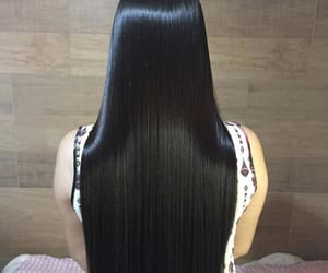 black, blackhair, and long image