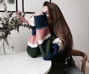 beauty, girl, and sweater image