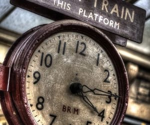 train, photography, and clock image