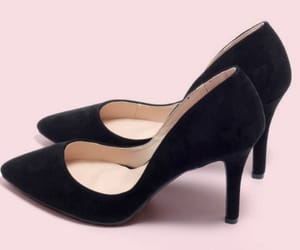 black heels, black shoes, and fashion image