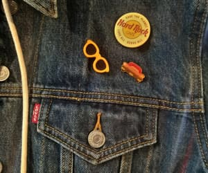 badges, jeans, and levi's image