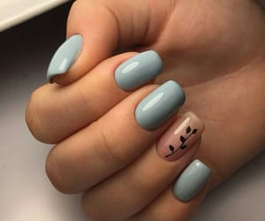 art, blue, and manicure image