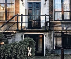 architecture, christmas, and christmas tree image