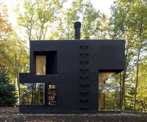 black and house image