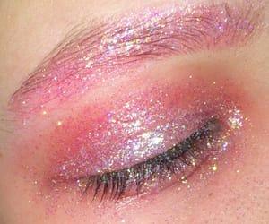 glitter, pink, and eye image