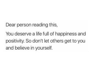 happiness, positivity, and believe in yourself image