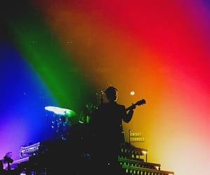 Harry Styles and rainbow image