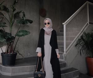 black, fashion, and hijab image