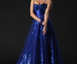 blue dress, fashion, and cute image