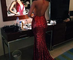 prom dress, prom2k18, and backless prom dress image