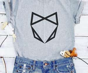 cat, hipster, and cat tshirt image