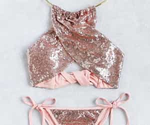 beach, pink, and sequins image