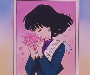 anime, sailor moon, and flowers image