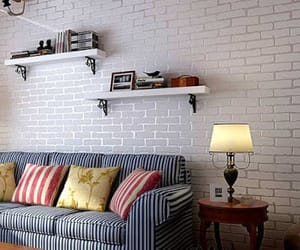 wallpapers, white brick, and walls image