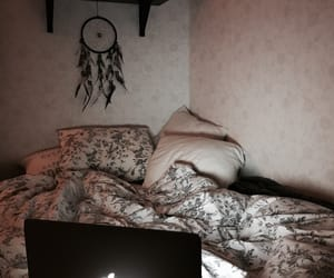 bed, cosy, and floral image